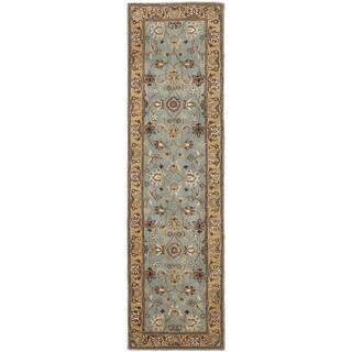 Safavieh Handmade Heritage Timeless Traditional Blue/ Gold Wool Runner (2'3 x 4')