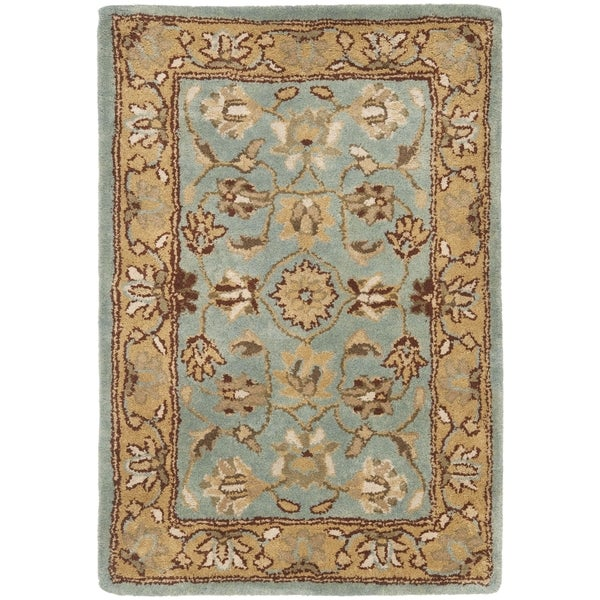 Safavieh Handmade Heritage Timeless Traditional Blue/ Gold Wool Rug (3' x 5')