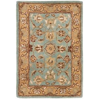 Safavieh Handmade Heritage Timeless Traditional Blue/ Gold Wool Rug (3' x 5')