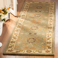 "Safavieh Handmade Heritage Traditional Oushak Light Green/Beige Wool Rug - 9'-6"" x 13'-6"""