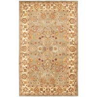 Safavieh Handmade Heritage Traditional Oushak Light Green/Beige Wool Rug - 12' x 15'