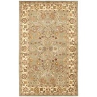 Safavieh Handmade Heritage Traditional Oushak Light Green/Beige Wool Rug (3' x 5')