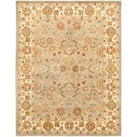 "Safavieh Handmade Heritage Traditional Oushak Light Green/Beige Wool Rug - 8'3"" x 11'"
