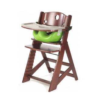 Height Right Mahogany High Chair with Infant Insert and Tray (Option: Lime)
