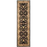 Safavieh Handmade Heritage Timeless Traditional Black/ Gold Wool Runner (2'3 x 12')