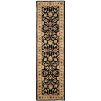 Safavieh Handmade Heritage Timeless Traditional Black/ Gold Wool Runner Rug - 2'3 x 14'