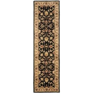 Safavieh Handmade Heritage Timeless Traditional Black/ Gold Wool Runner (2'3 x 16')
