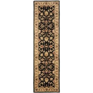 Safavieh Handmade Heritage Timeless Traditional Black/ Gold Wool Runner (2'3 x 16')|https://ak1.ostkcdn.com/images/products/5396081/5396081/Handmade-Heritage-Kerman-Black-Gold-Wool-Runner-23-x-16-P13193190.jpg?impolicy=medium