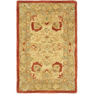 Safavieh Handmade Anatolia Oriental Oushak Ivory/ Grey Hand-spun Wool Rug (2' x 3')