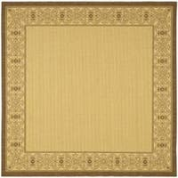 "Safavieh Oceanview Natural/ Brown Indoor/ Outdoor Rug - 7'10"" x 7'10"" square"