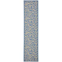 Safavieh Mayaguana Blue/ Natural Indoor/ Outdoor Runner (2'4 x 9'11)