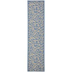 Safavieh Indoor/ Outdoor Mayaguana Blue/ Natural Runner (2'4 x 9'11)