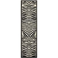 Safavieh Lyndhurst Contemporary Zebra Black/ White Runner (2'3 x 14') - 2'3 x 14'