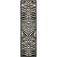"""Safavieh Lyndhurst Contemporary Zebra Black/ Ivory Runner Rug - 2'3"""" x 14'"""