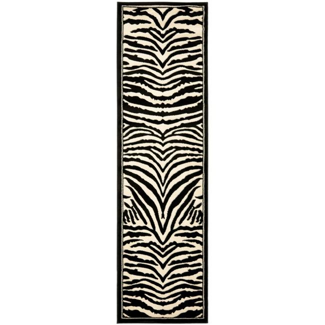 Shop Safavieh Lyndhurst Contemporary Zebra Black White