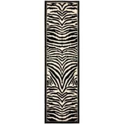 """Safavieh Lyndhurst Contemporary Zebra Black/ Ivory Runner Rug - 2'3"""" x 16' - Thumbnail 0"""
