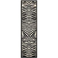 """Safavieh Lyndhurst Contemporary Zebra Black/ Ivory Runner Rug - 2'3"""" x 20'"""