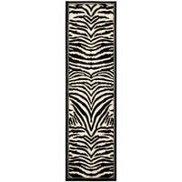 Safavieh Lyndhurst Contemporary Zebra Black/ White Runner - 2'3 x 8'