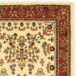 Safavieh Lyndhurst Traditional Oriental Ivory/ Rust Runner (2'3 x 12') - Thumbnail 1