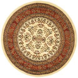 Safavieh Lyndhurst Traditional Oriental Ivory/ Rust Rug (5' 3 Round)