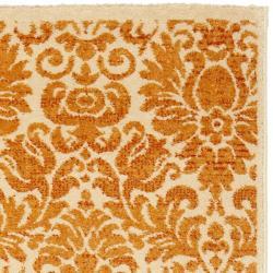 Safavieh Porcello Fine-spun Damask Cream/ Rust Runner Rug (2'4 x 6'7) - Thumbnail 1