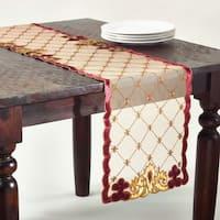 Embroidered Velvet Table Linens