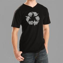 Los Angeles Pop Art Men's Recycle V-neck Tee