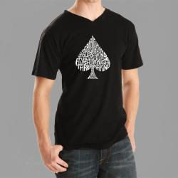 Los Angeles Pop Art Men's Spade V-neck Tee