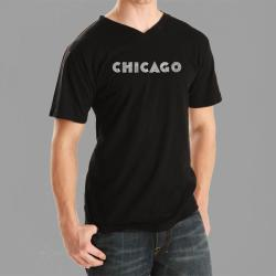 Los Angeles Pop Art Men's Chicago V-neck Tee