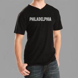 Los Angeles Pop Art Men's Philadelphia V-neck Tee