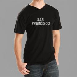 Los Angeles Pop Art Men's San Francisco V-neck Tee