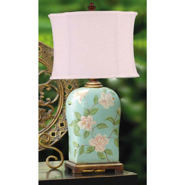 Hand-painted Floral Ceramic Table Lamp