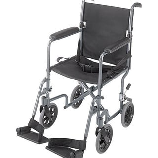 Mabis Ultra Lightweight Titanium Aluminum Transport Chair
