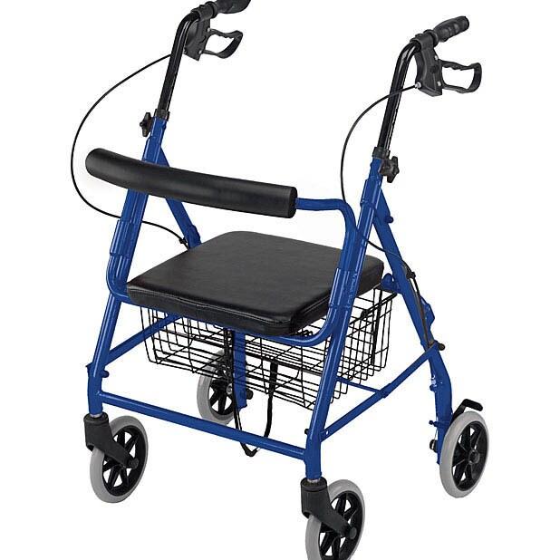 Mabis Healthcare Ultra Lightweight Royal Blue Hemi Alumin...