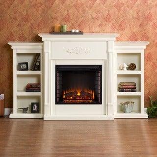 Harper Blvd Dublin 70-inch Ivory Electric Fireplace