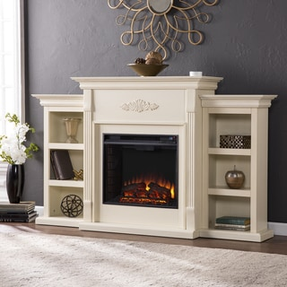 Harper Blvd Dublin 70-inch Ivory Electric Fireplace - Thumbnail 0