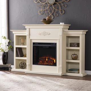 Gracewood Hollow Forbes 70 Inch Ivory Electric Fireplace