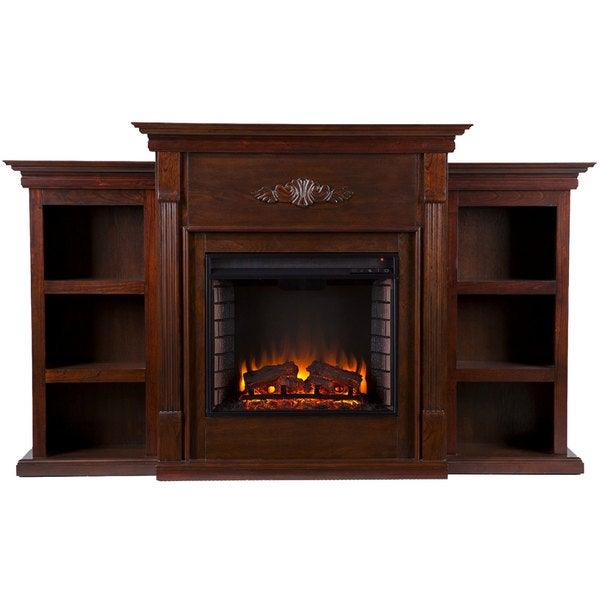 Harper Blvd Dublin 70-inch Espresso Electric Fireplace - Free ...