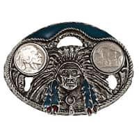 American Coin Treasures Buffalo Nickel Enamel Belt Buckle