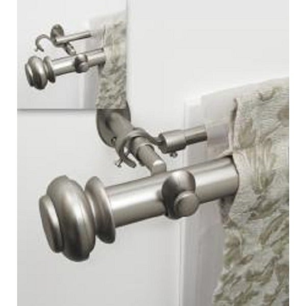 Pinnacle Bold Double Pole 144 To 240 Inch Adjustable Double Curtain Rod Set    240   Free Shipping Today   Overstock.com   13197212