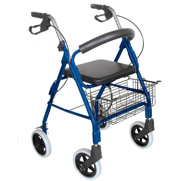 Mabis Lightweight Royal Blue Aluminum Rollator