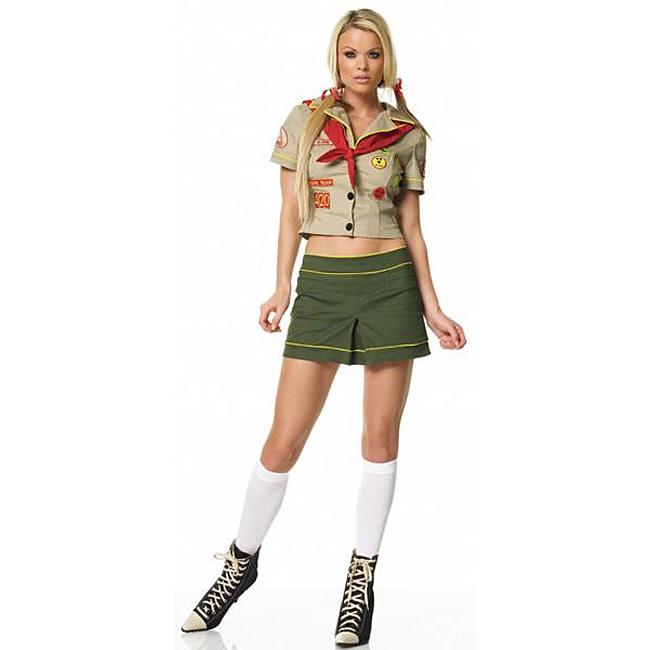 Dress Up America Women's 2-piece Camper Girl Costume, Gre...