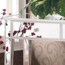 Thumbnail 3, Silver Orchid Olivia Mirrored Accent Table. Changes active main hero.