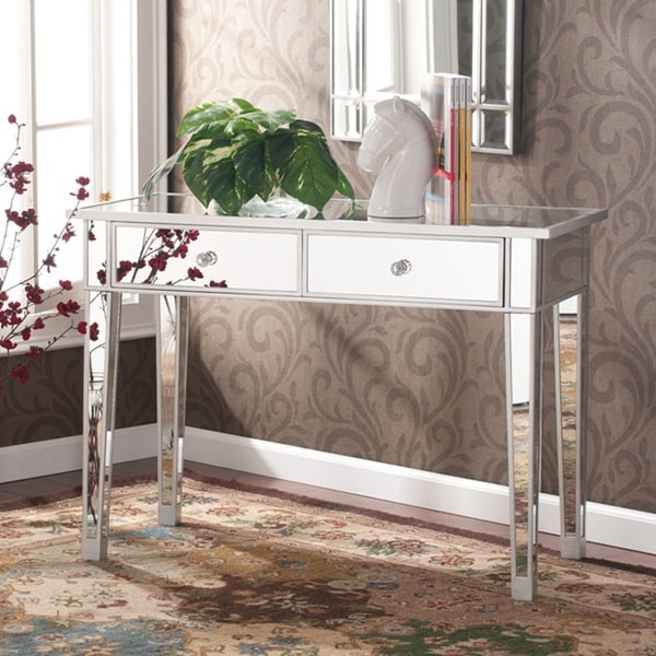 Silver Orchid Olivia Mirrored Accent Table
