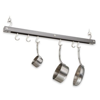 J.K. Adams 36-Inch Oval Hanging Pot Rack, Grey