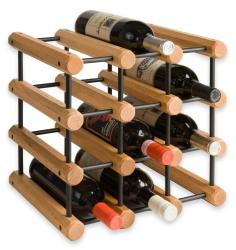 J.K. Adams 40-bottle Penguin Wood Wine Rack - Thumbnail 1