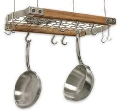 J.K. Adams 24-Inch Oval Hanging Pot Rack, Natual - Thumbnail 1