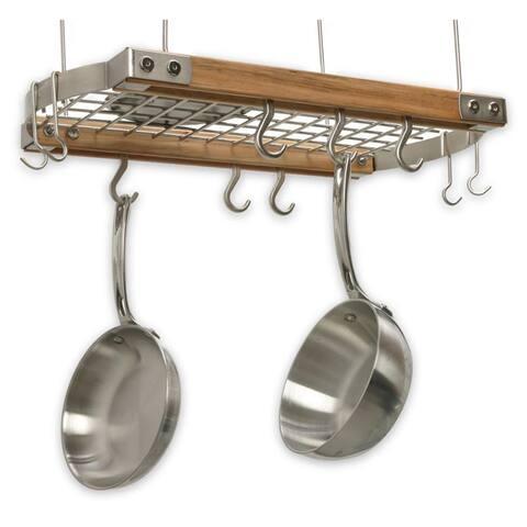 J.K. Adams 24-Inch Oval Hanging Pot Rack, Natual