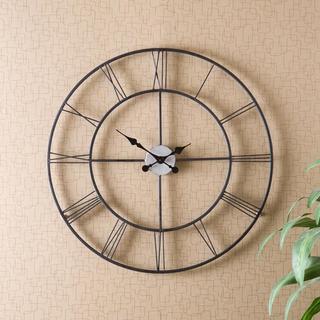 Lovely Clay Alder Home Sorlie Metal Black Wall Clock