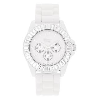 Geneva 'Platinum' Women's Rhinestone-accented Silicone Watch|https://ak1.ostkcdn.com/images/products/5401069/P13197506.jpg?impolicy=medium